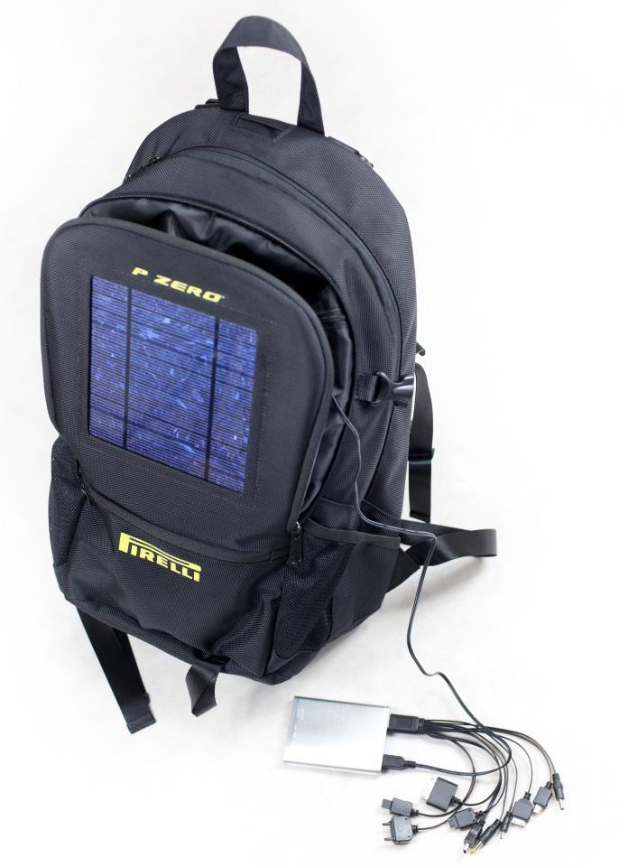 Regolatore Pannello Solare Zaino : Da pirelli lo zaino a pannelli solari che vi ricarica pc